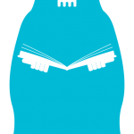 blue death with a book